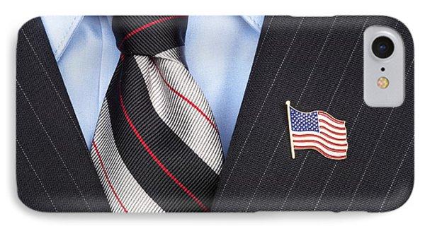 American Flag Lapel Pin IPhone Case