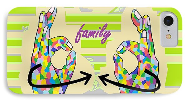 American Sign Language Family                                                    IPhone Case