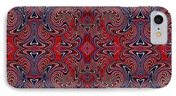 Americana Swirl Banner 1 IPhone Case