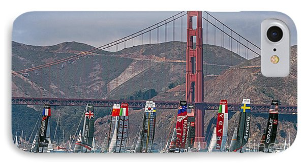 Americas Cup Catamarans At The Golden Gate IPhone Case
