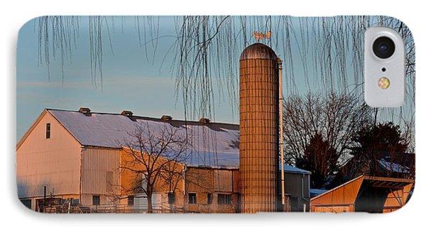 Amish Farm At Turquoise Dusk IPhone Case