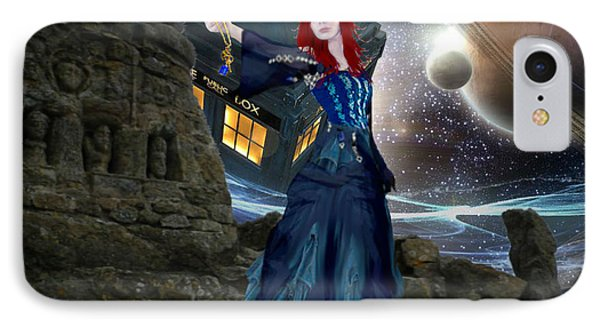 Amy And The Tardis IPhone Case