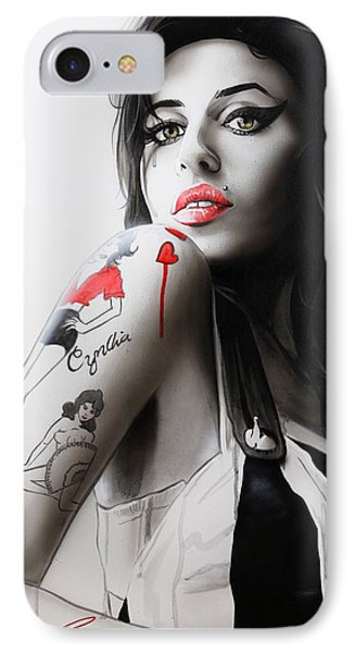 Music iPhone 8 Case - Amy by Christian Chapman Art