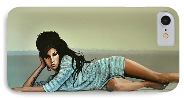 Rhythm And Blues iPhone 8 Case - Amy Winehouse 2 by Paul Meijering