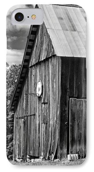 An American Barn Bw IPhone Case