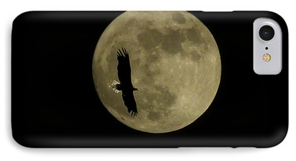 An Eagle And The Moon IPhone Case