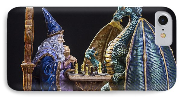 Dungeon iPhone 8 Case - An Epic Chess Match by Bill Tiepelman