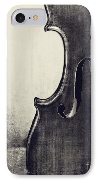 Violin iPhone 8 Case - An Old Violin In Black And White by Emily Kay