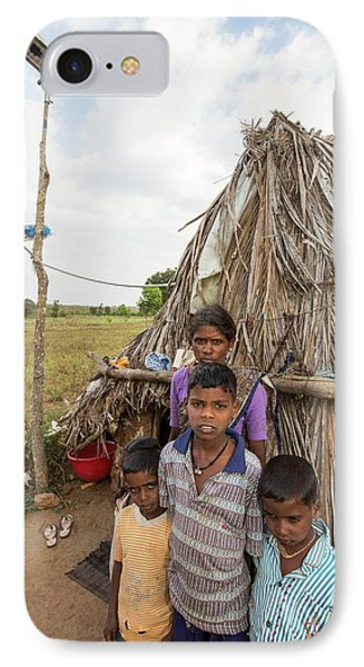 An Untouchable Family Outside Their Hut IPhone Case