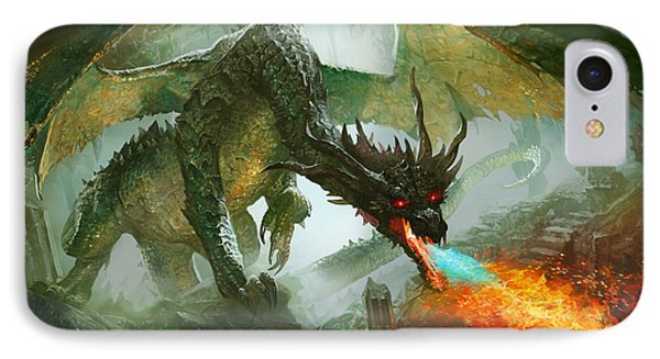 Fantasy iPhone 8 Case - Ancient Dragon by Ryan Barger