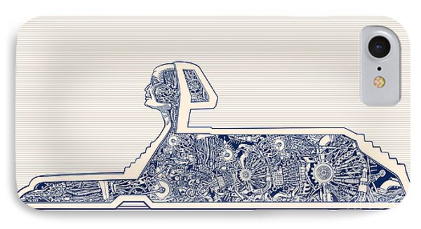 Egyptian iPhone 8 Case - Ancient Egypt Sphinx And Science by Ryger