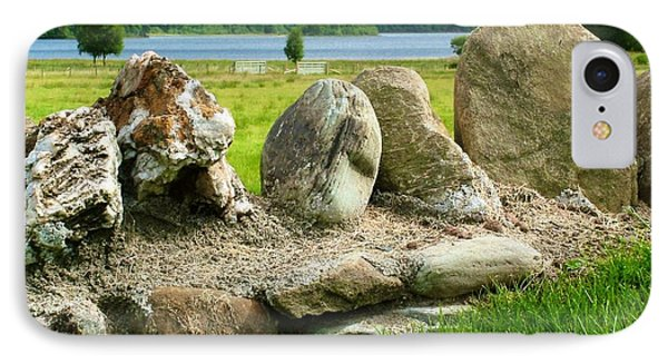 Ancient Stone Wall At Loch Achray IPhone Case