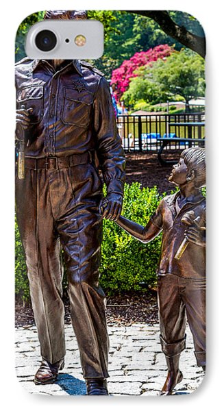 Andy And Opie Statue IPhone Case