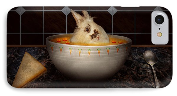Animal - Bunny - There's A Hare In My Soup IPhone Case
