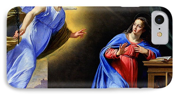 IPhone Case featuring the painting Annunciation by Philippe de Champaigne