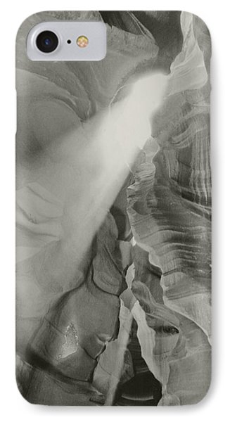 Antelope Canyon Light Black And White IPhone Case