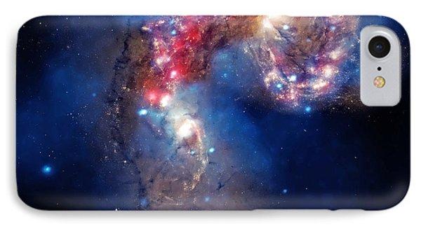 Antennae Galaxies Collide 2 IPhone Case