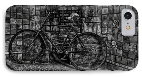Antique Bicycle Bw IPhone Case