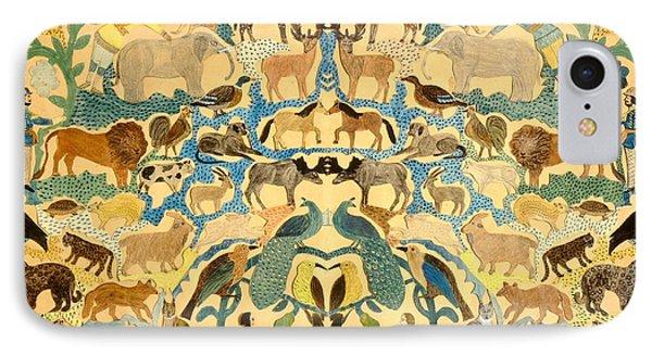 Antique Cutout Of Animals  IPhone Case