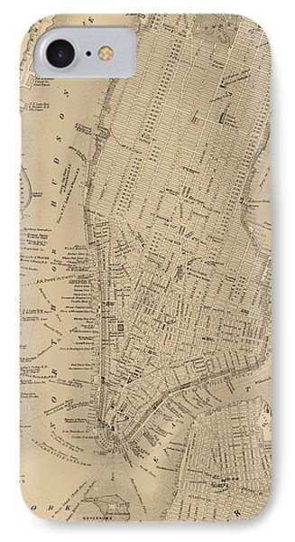 Antique Manhattan Map IPhone Case