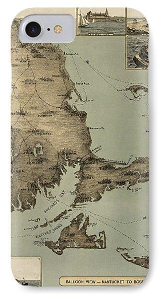 Antique Map Of Cape Cod Massachusetts By J. H. Wheeler - 1885 IPhone Case
