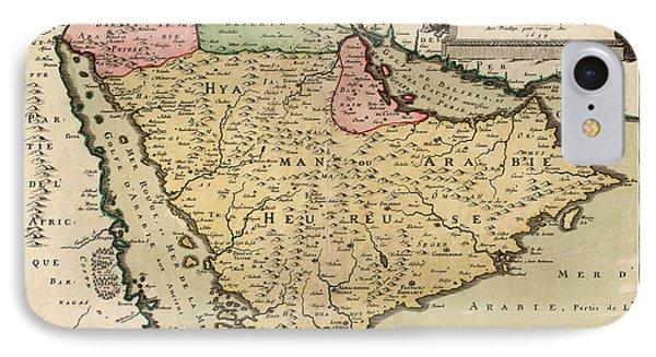 Antique Map Of Saudi Arabia And The Arabian Peninsula By Nicolas Sanson - 1654 IPhone Case