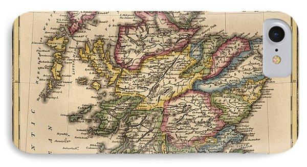 Antique Map Of Scotland By Fielding Lucas - Circa 1817 IPhone Case