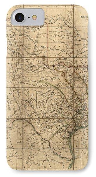 Antique Map Of Texas By John Arrowsmith - 1841 IPhone Case
