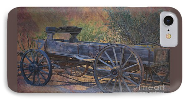 Antique Wooden Wagon IPhone Case