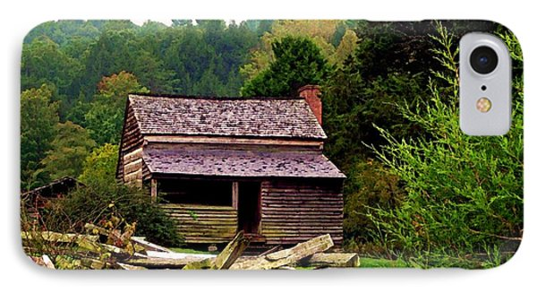 Appalachian Cabin With Fence IPhone Case