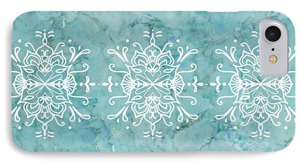 Aqua Blue Marble-royal White IPhone Case