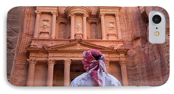 Arab Man Watching Facade Of Treasury IPhone Case