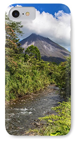 Arenal From The Rio Agua Caliente IPhone Case