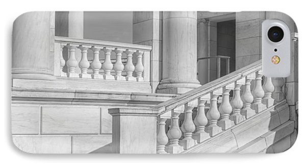 Arlington Memorial Amphitheater  Bw IPhone Case