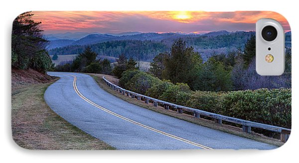 Around The Bend - Blue Ridge Parkway IPhone Case