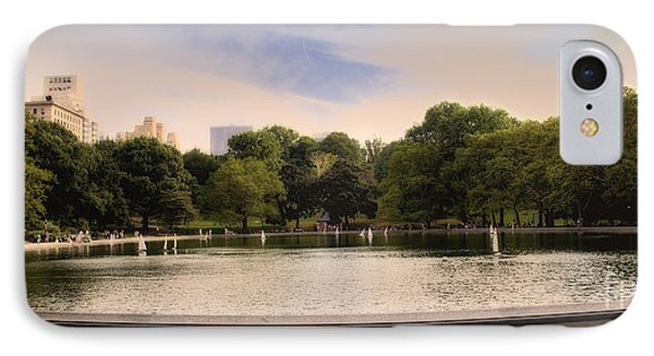 Around The Central Park Pond IPhone Case