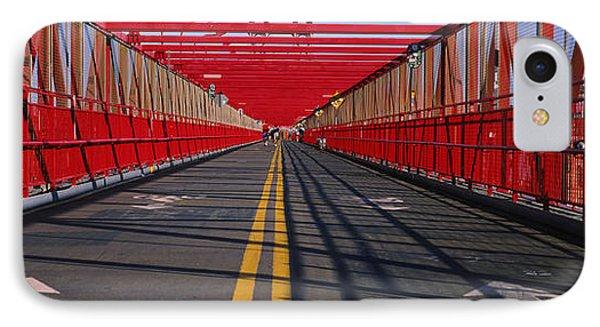 Arrow Signs On A Bridge, Williamsburg IPhone Case