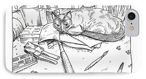 Art Cat IPhone Case