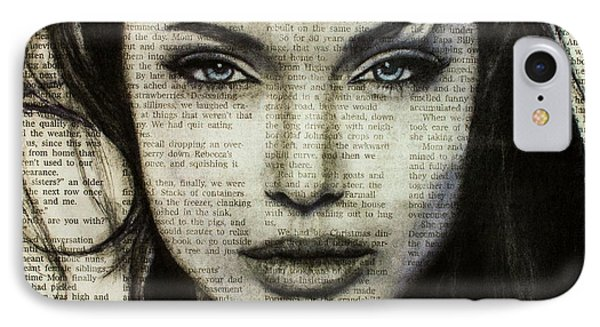 b44796880d7d Angelina Jolie Drawing iPhone 8 Case - Art In The News 44- Angelina Jolie by