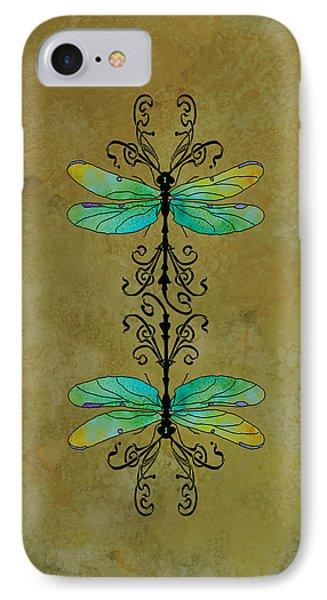 Art Nouveau Damselflies IPhone Case