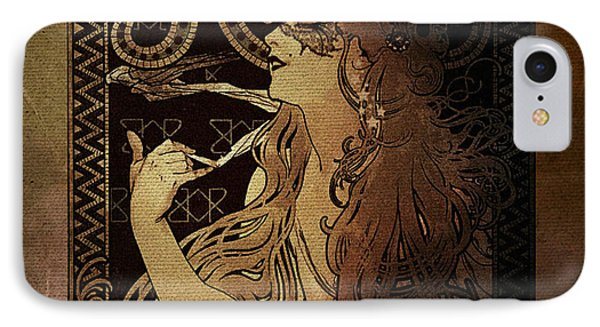 Art Nouveau Job - Masquerade IPhone Case