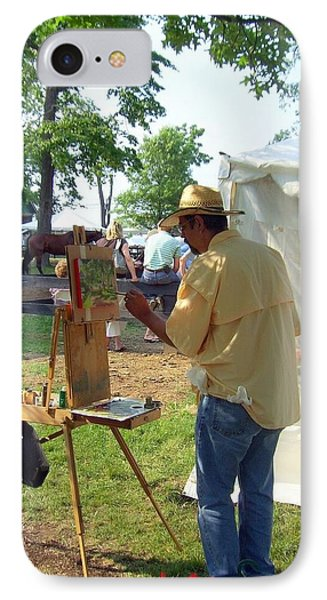 Artist At Upperville IPhone Case