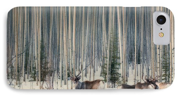 Caribou And Trees IPhone Case
