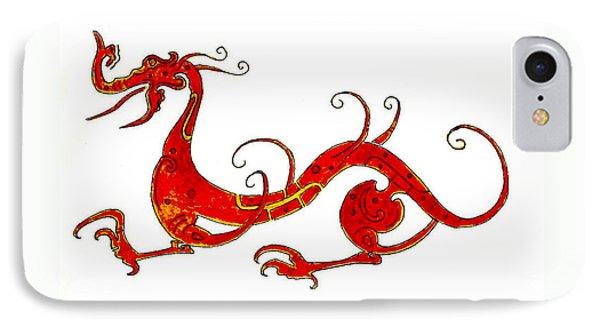 Dragon iPhone 8 Case - Asian Dragon by Michael Vigliotti