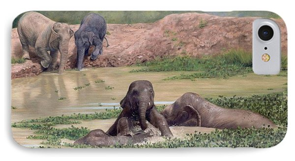 Asian Elephants - In Support Of Boon Lott's Elephant Sanctuary IPhone Case