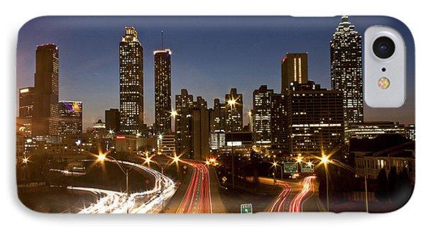 Atlanta Skyline - Jackson St Bridge IPhone Case