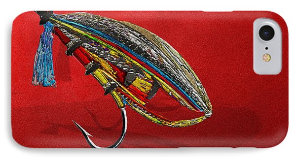 Atlantic Salmon Dry Fly On Red IPhone Case