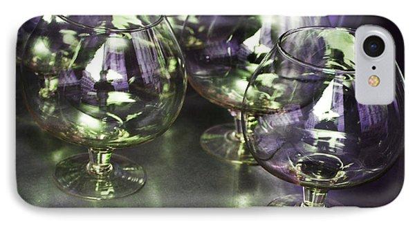 Aubergine Paris Wine Glasses IPhone Case