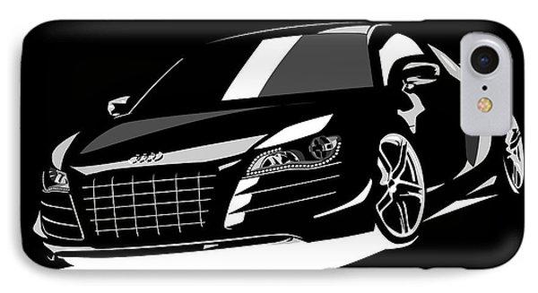 Car iPhone 8 Case - Audi R8 by Michael Tompsett