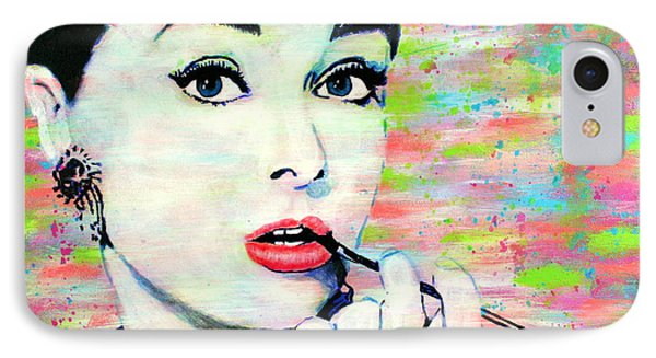 Audrey Hepburn Art Breakfast At Tiffany's IPhone Case